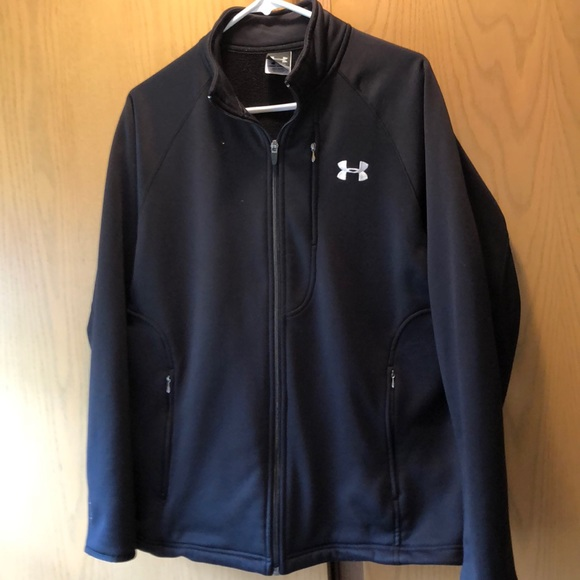 a93c04454 Men's soft shell under armor zip up jacket.